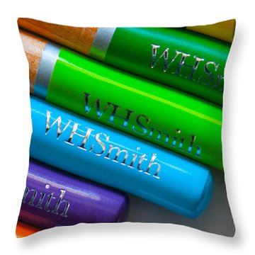 Pencils 5 Throw Pillow