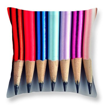 Pencils Throw Pillow