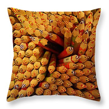 Pencils Pencils Everywhere Pencils Get The Point...lol Throw Pillow by John S