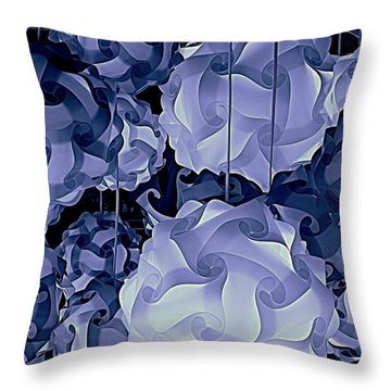Pendants In Purple Throw Pillow