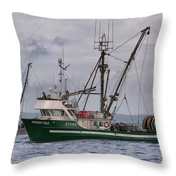 Pender Isle And Santa Cruz Throw Pillow