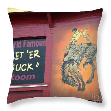 Pendleton Round Up Mural Throw Pillow