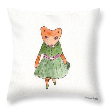 Penelope Curtsies Throw Pillow