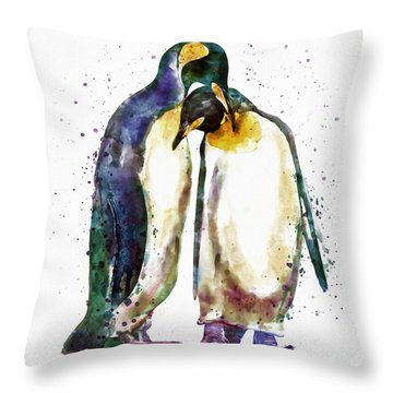 Penguin Couple Throw Pillow