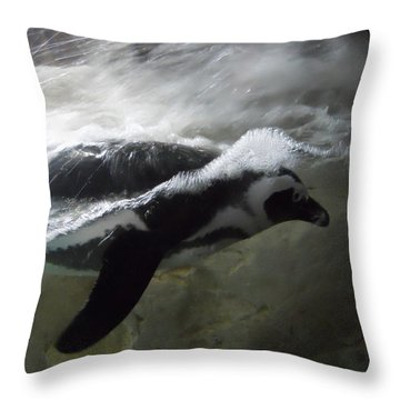 Penguin Throw Pillow by Maggy Marsh