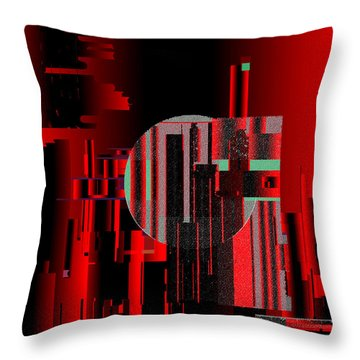 Throw Pillow featuring the painting Penman Original - 105 by Andrew Penman