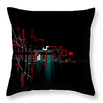 Throw Pillow featuring the painting Penman Original - 110 by Andrew Penman