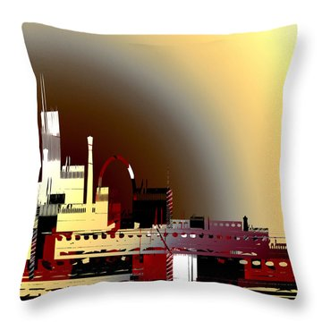 Throw Pillow featuring the painting Penman Original - 112 by Andrew Penman