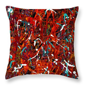 Throw Pillow featuring the painting Penman Original - 113 by Andrew Penman