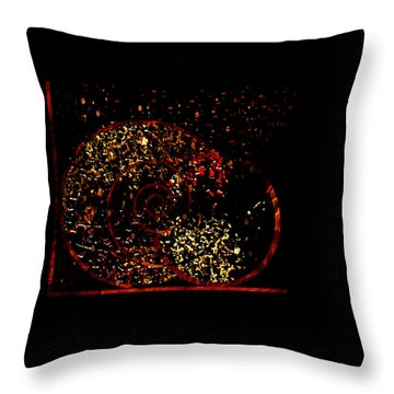 Throw Pillow featuring the painting Penman Original - 114 by Andrew Penman
