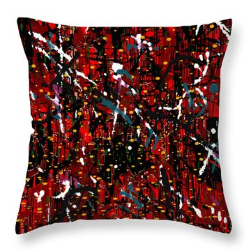 Throw Pillow featuring the painting Penman Original - 116 by Andrew Penman