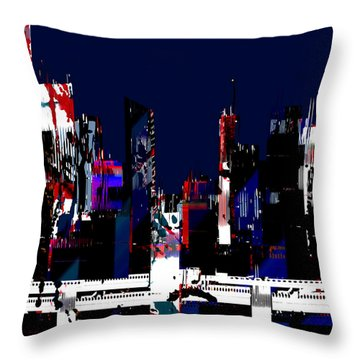 Throw Pillow featuring the painting Penman Original-120 by Andrew Penman