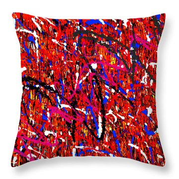 Throw Pillow featuring the painting Penman Original-124 by Andrew Penman