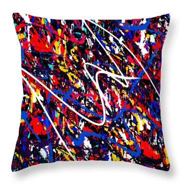 Throw Pillow featuring the painting Penman Original-130 by Andrew Penman