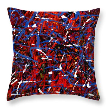 Throw Pillow featuring the painting Penman Original-132 by Andrew Penman