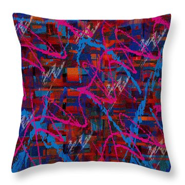 Throw Pillow featuring the painting Penman Original-137 by Andrew Penman