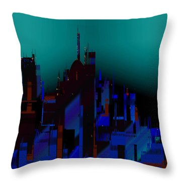 Throw Pillow featuring the painting Penman Original-138 by Andrew Penman