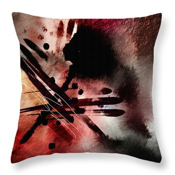 Throw Pillow featuring the painting Penman Original-141 by Andrew Penman