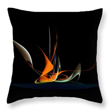 Penman Original-343 Exotic Melody Throw Pillow by Andrew Penman