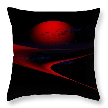Penman Original-347 Cosmic Curve Throw Pillow by Andrew Penman