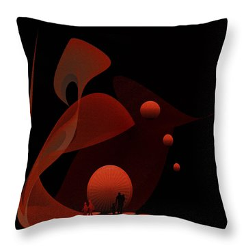Penman Original-451 Out Of The Rat Race Into A Space Of Wellbeing Throw Pillow by Andrew Penman