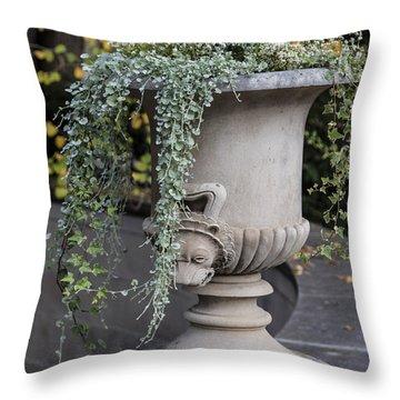 Penn State Flower Pot  Throw Pillow by John McGraw