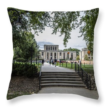 Penn State Library  Throw Pillow by John McGraw