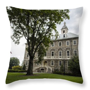 Penn State Old Main From Side  Throw Pillow by John McGraw