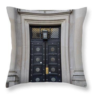 Penn State University Liberal Arts Door  Throw Pillow by John McGraw