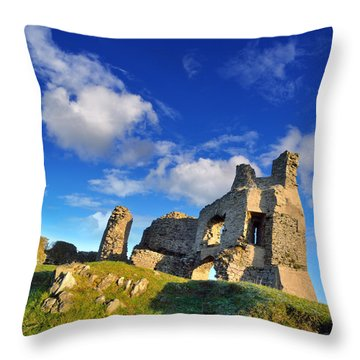 Pennard Castle Throw Pillow