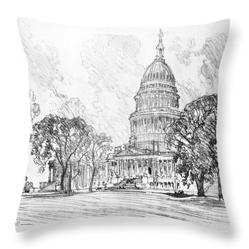 Pennell Capitol, 1912 Throw Pillow by Granger