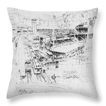 Pennell Polo Grounds 1921 Throw Pillow by Granger