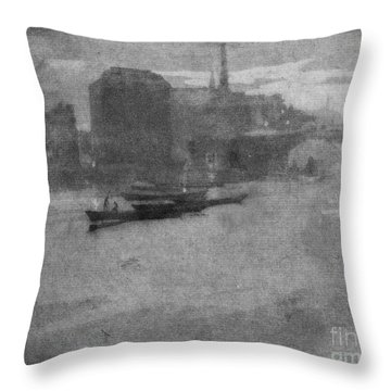 Pennell Thames, 1903 Throw Pillow by Granger