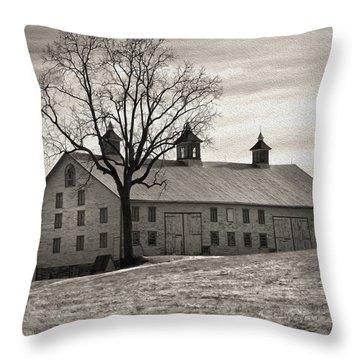 Throw Pillow featuring the digital art Pennsylvania Barn by Robert Geary