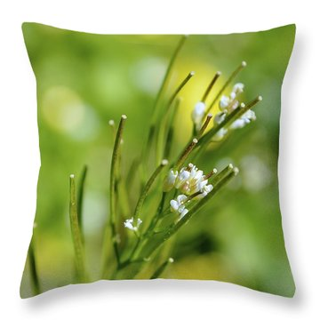 Bittercress 1 Throw Pillow