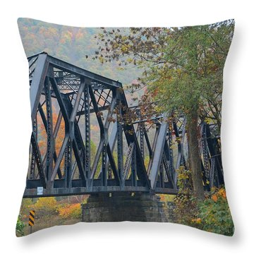 Pennsylvania Bridge Throw Pillow by Cindy Manero