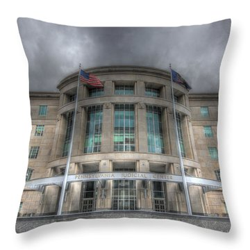 Pennsylvania Judicial Center Throw Pillow