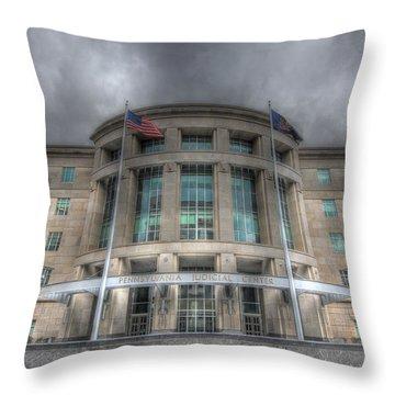 Pennsylvania Judicial Center Throw Pillow