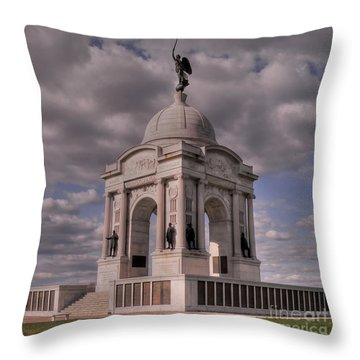 Pennsylvania Memorial At Gettysburg Throw Pillow