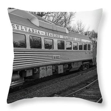 Pennsylvania Reading Seashore Lines Train Throw Pillow