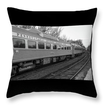 Pennsylvania Reading Seashore Lines Train Throw Pillow by Terry DeLuco