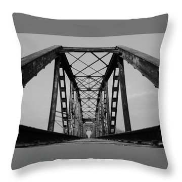 Pennsylvania Steel Co. Railroad Bridge Throw Pillow