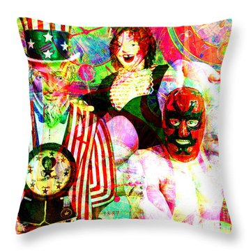 Throw Pillow featuring the photograph Penny Arcade 20160223 V2 by Wingsdomain Art and Photography