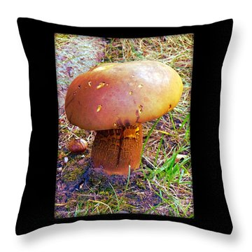 Throw Pillow Synonym : Penny Bun Photograph by MaryLee Parker