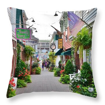 Penny Lane Greenery Throw Pillow