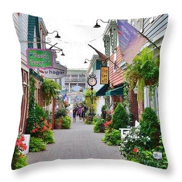 Penny Lane Greenery Throw Pillow