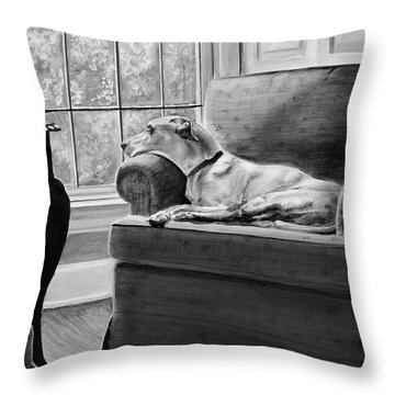 Penny Throw Pillow by Patricia L Davidson