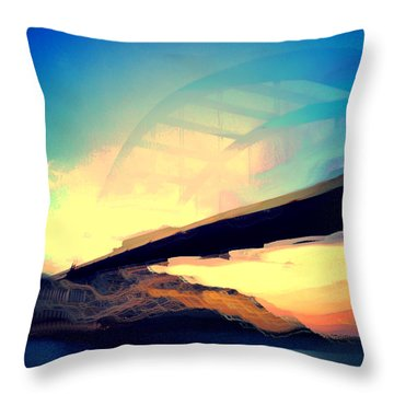 Pennybacker Bridge Throw Pillow by Christy LaSalle