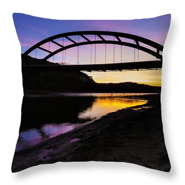 Pennybacker Bridge Throw Pillow