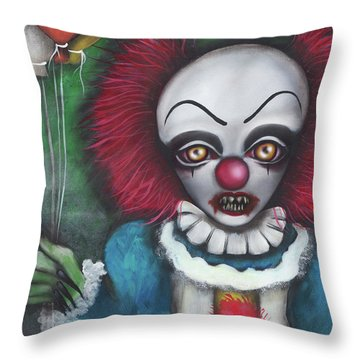 Pennywise Throw Pillow by Abril Andrade Griffith